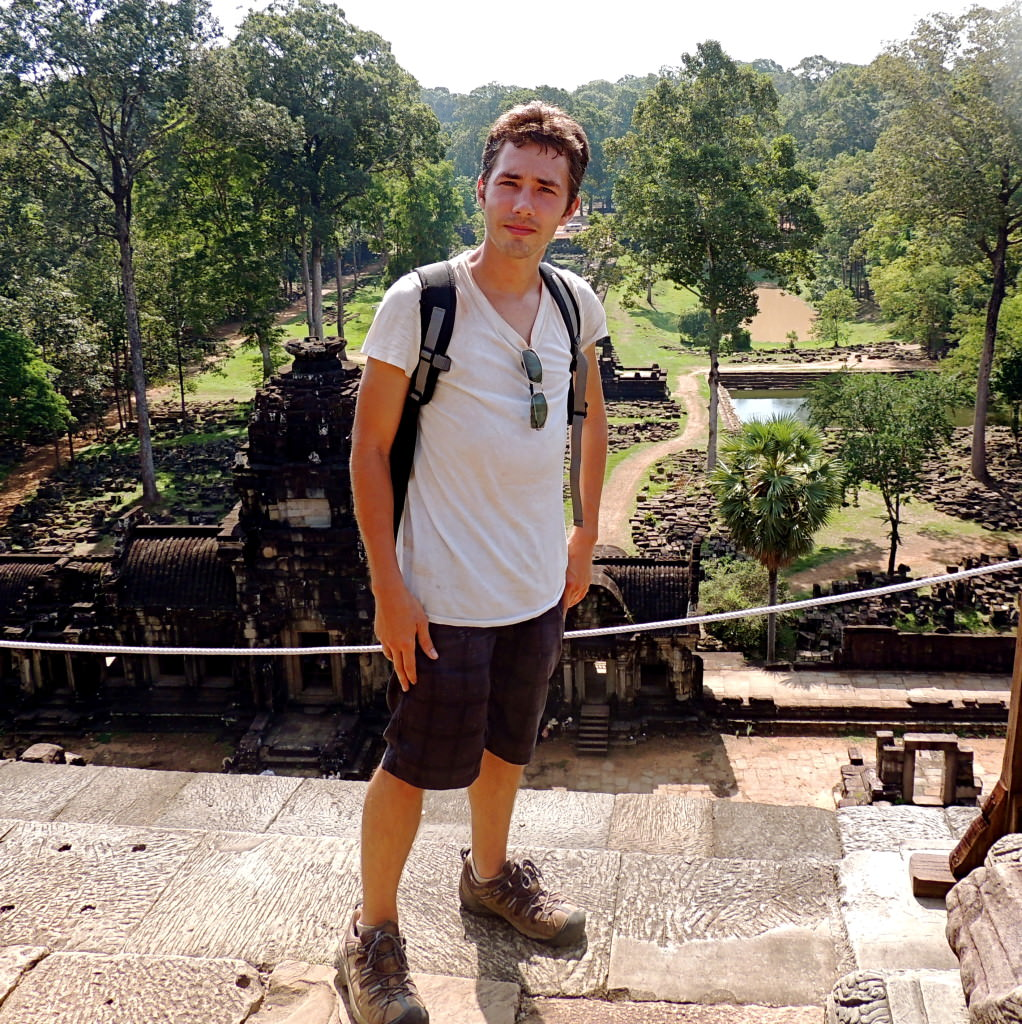 The entrance to the Baphuon Temple at Angkor Archaeological Park is behind me.