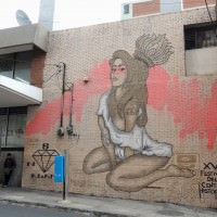 Street art is common to find in Zone 1 of Guatemala City.
