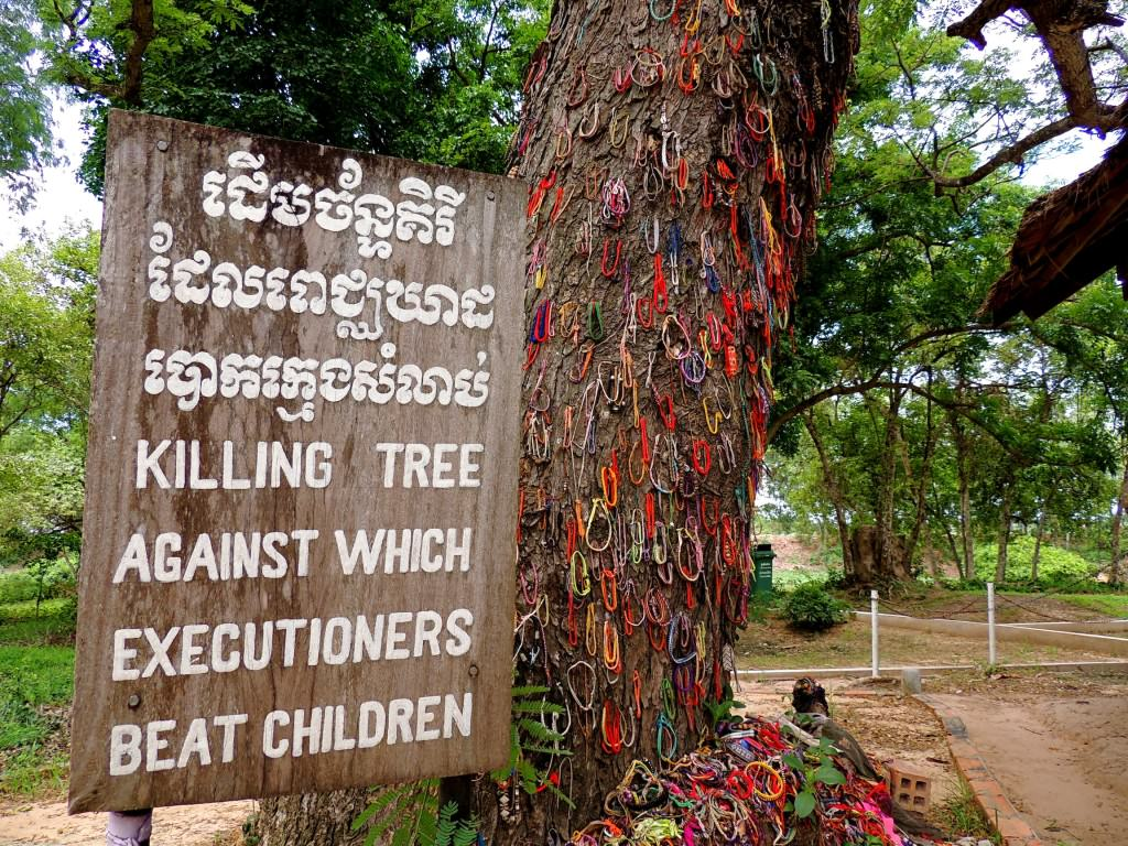 Babies and young children were dangled by their legs and beaten to death against this tree. Paintings depict this at Choeung Ek, but I chose not to include them in the album.