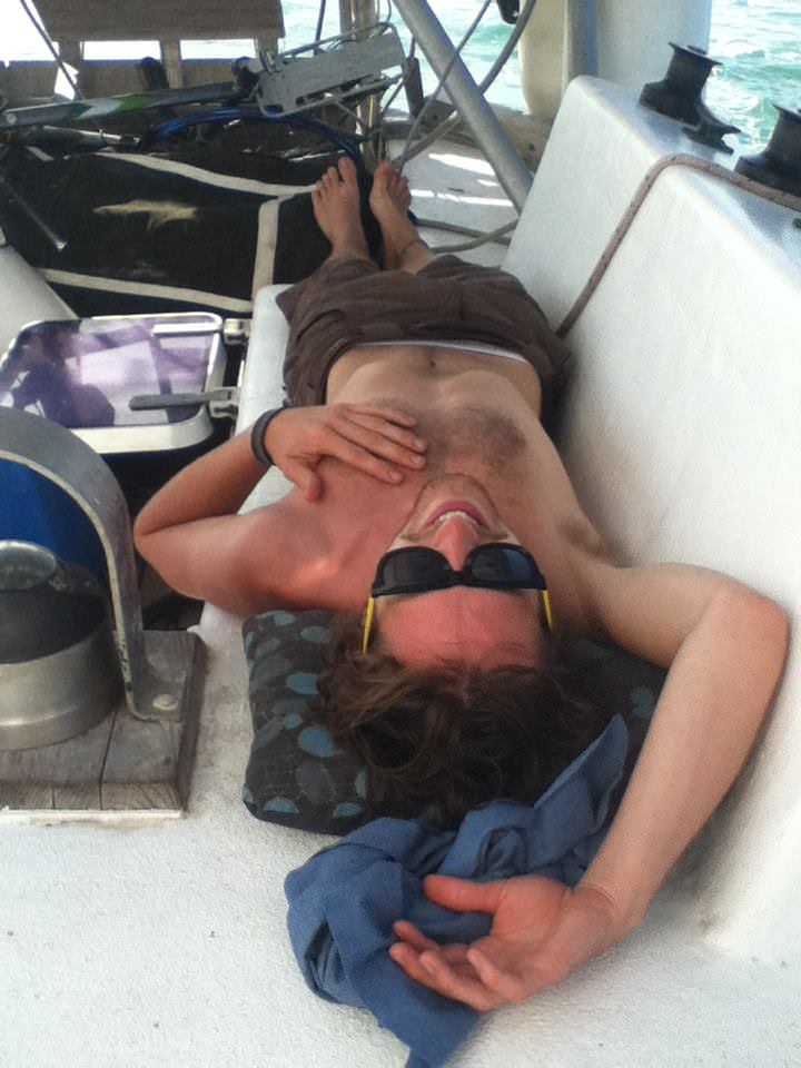 Kyle said he only had to work for a few hours a day while he was sailing in Central America.