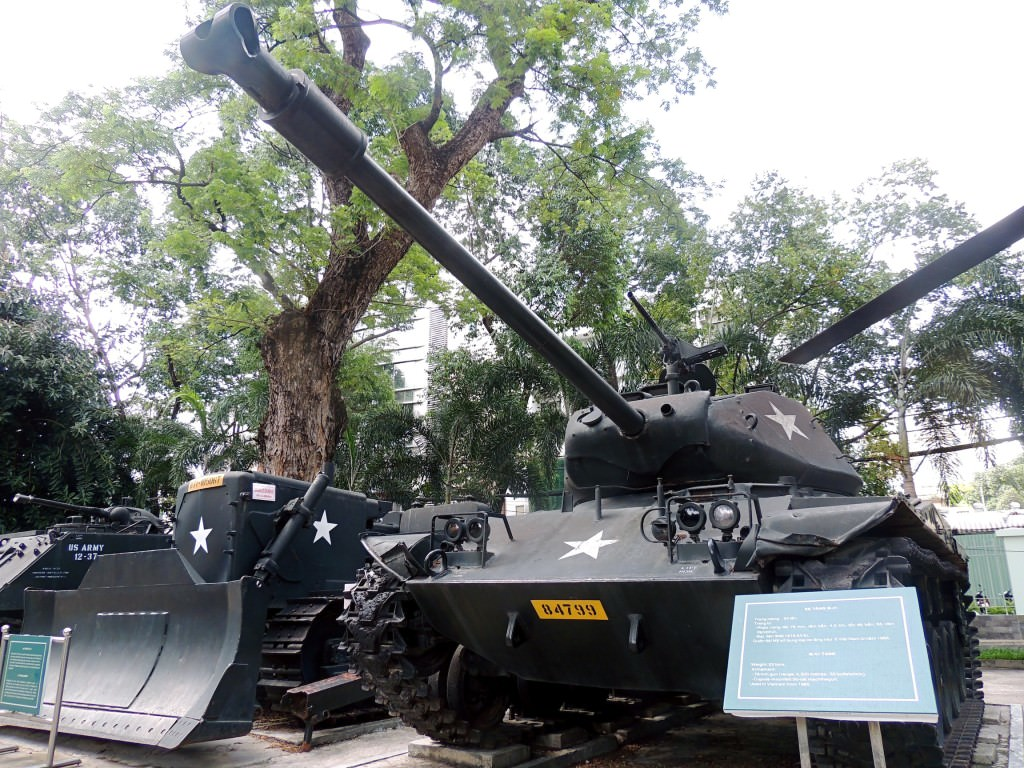 Vietnam has put U.S. tanks left behind in the war in its museums - War Remnants Museum