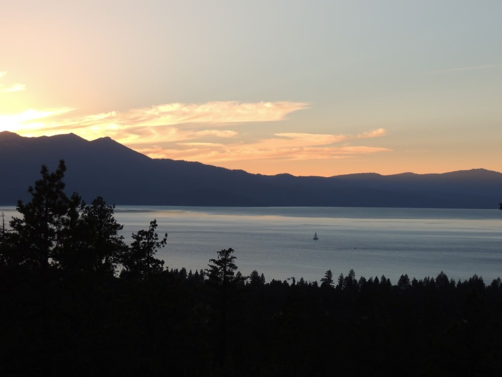 Sunset from the Tahoe Rim Trail. This location was about 10 minutes into the hike.